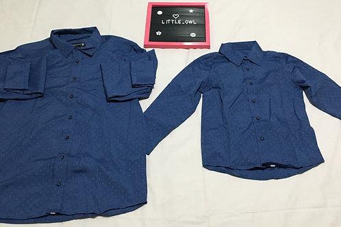 Infantil - Camisa Social Masculina (azul escuro)