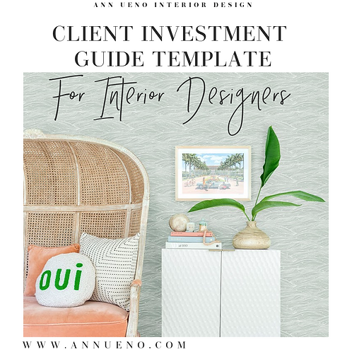 Client Investment Guide for Interior Designers