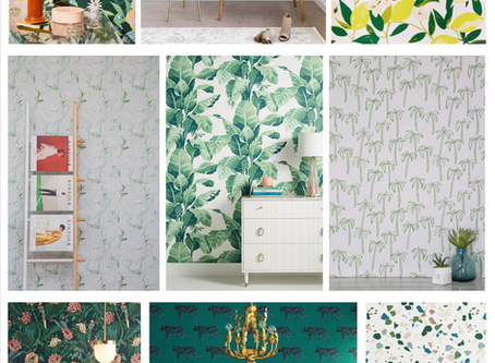 Design Trend Alert!  Green Wallpaper.