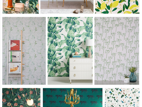 Design Trend Alert!  Green Wallpaper.
