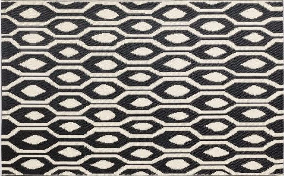 How to decorate a patio on a budget - World Market rug