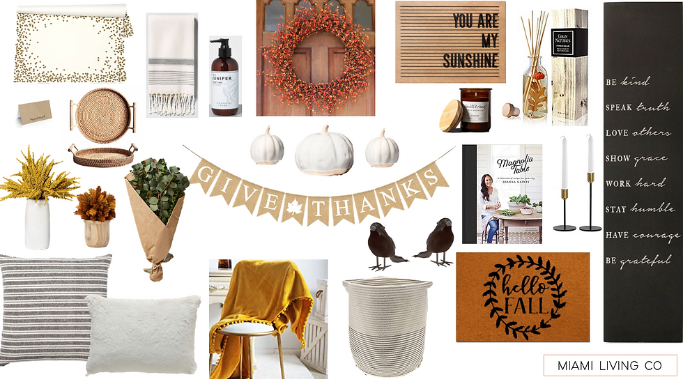 The Design Dossier - Fall Home Styling