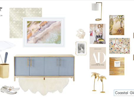 How to Design a Coastal Glam Entryway
