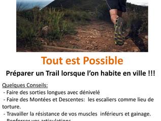 Quelques Conseils pour préparer un Trail lorsque l'on réside en ville !!!!