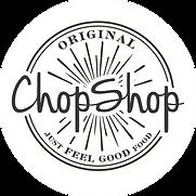 Orignal Chop Shop logo on white circle.p