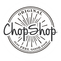 Orignal Chop Shop logo on white circle.p