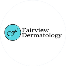 Fairview Dermatology logo on white circl