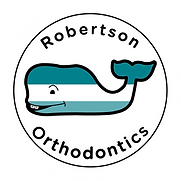 Robertson Orthodontics on white circle.p