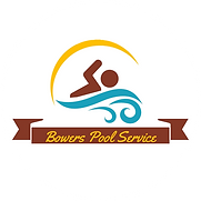 Bowers Pool Servivce Logo on White Circl