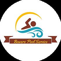 Bowers Pool Servivce Logo on White Circl