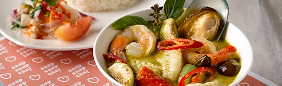 Green Curry Seafood Caribbean with Rice