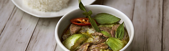 Green Curry Beef w Rice
