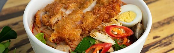 Thai Crispy Chicken Tom Yam Soup