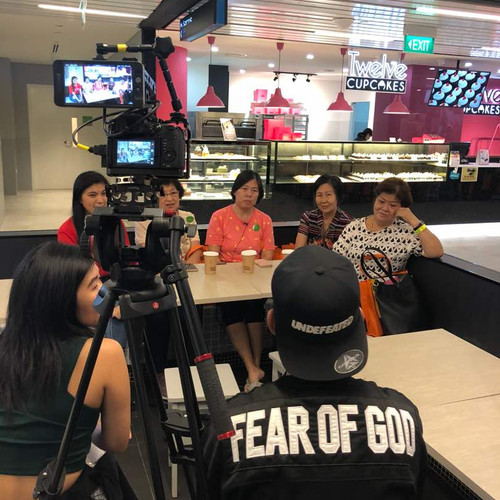 Filming at Kaffe & Toast @ Singpost