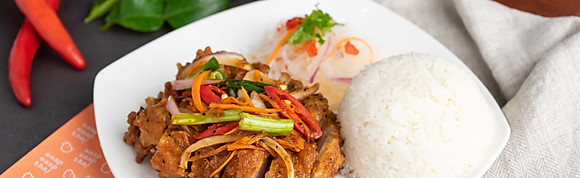 Crispy Chicken with Tom Yam Sauce
