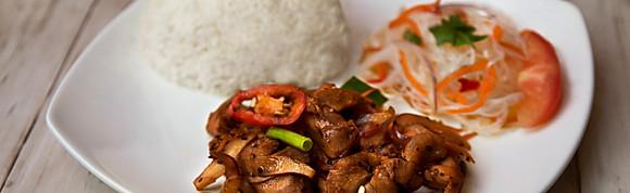 Thai Garlic Black Pepper Chicken with Rice