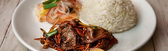 Thai Garlic Black Pepper Beef with Rice