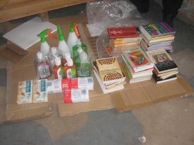 Ebola Materials & 41 books.JPG