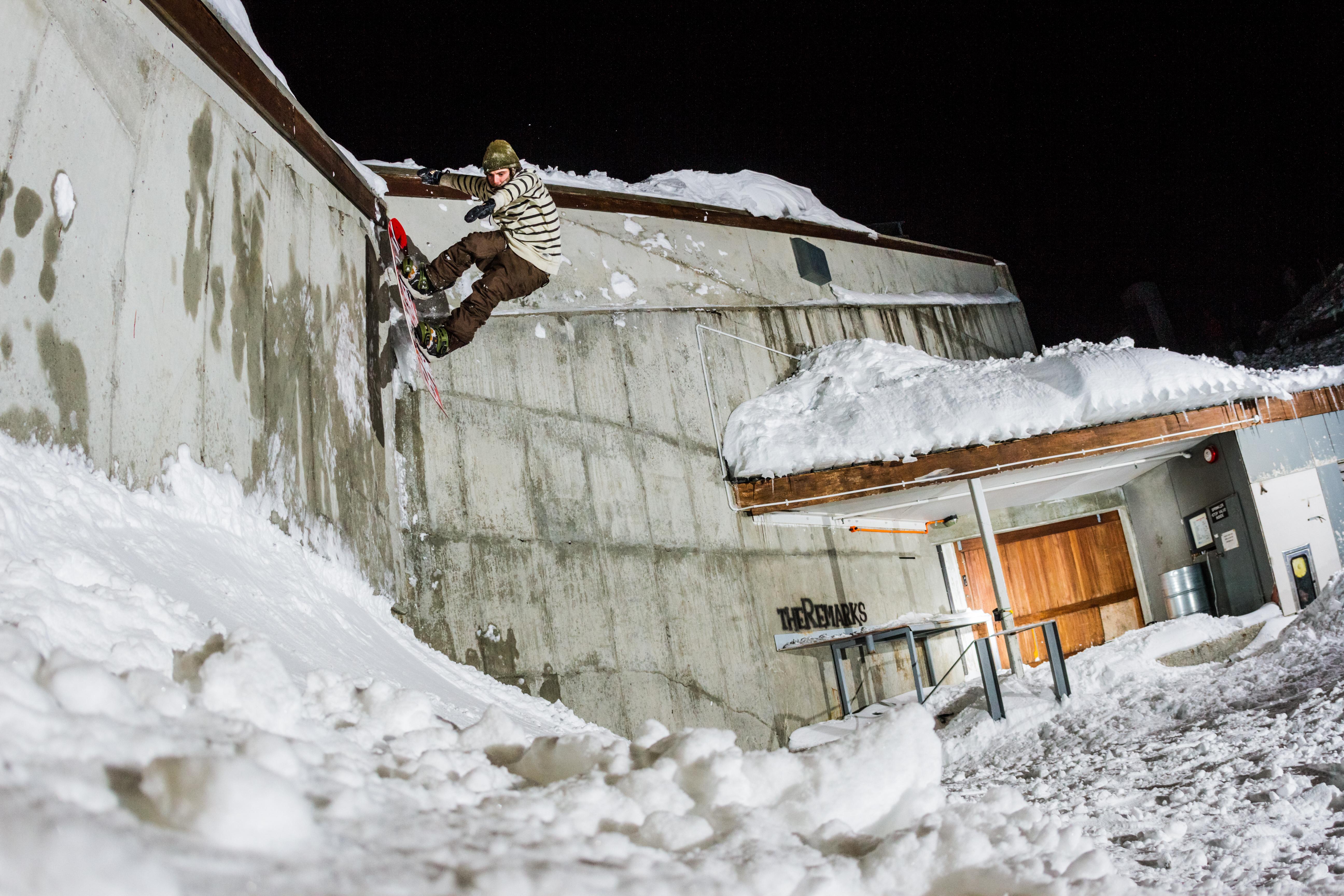 Morgan Schofield 50-50 to wall ride