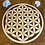 Thumbnail: Grande fleur de vie en bois