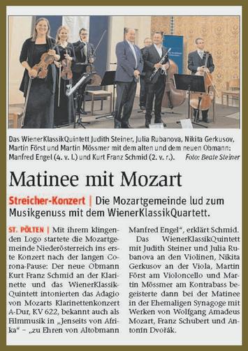 Konzert vom 31. Mai 2021 in St.Pölten (Synagoge).