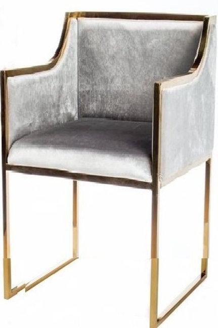 Silla moderna tapiz gris