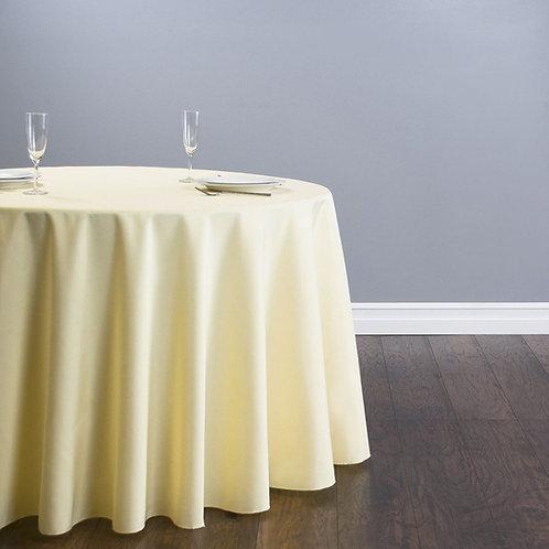 Mantel mantequilla mesa redonda o cuadrada 12 pax