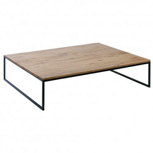Mesa de centro madera y fierro negro