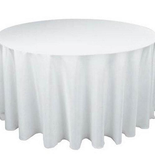 Mantel blanco mesa redonda 12 pax
