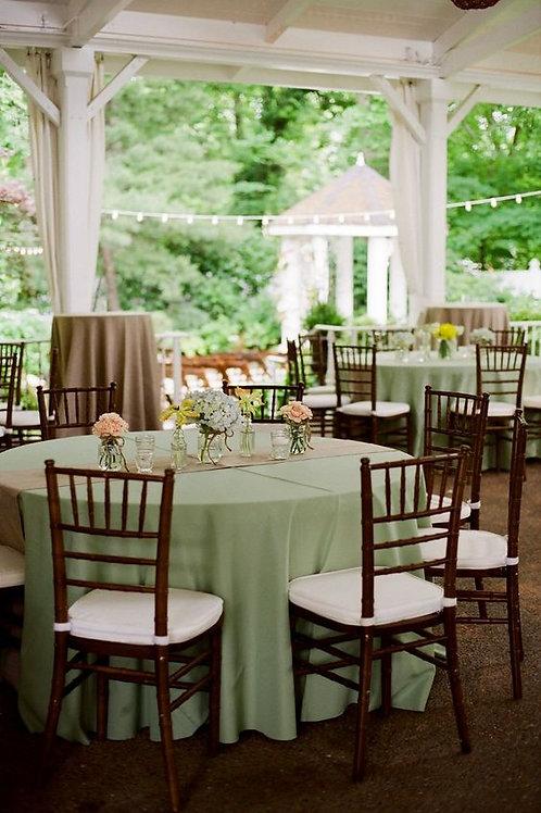 Mantel mesa redonda - color manzana verde
