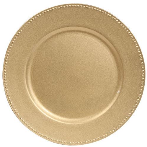 Plato Base dorado - 33 cm diametro
