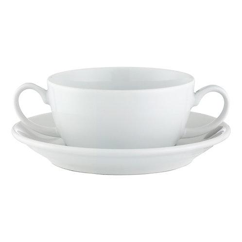 Taza de consome con platillo 300 ml