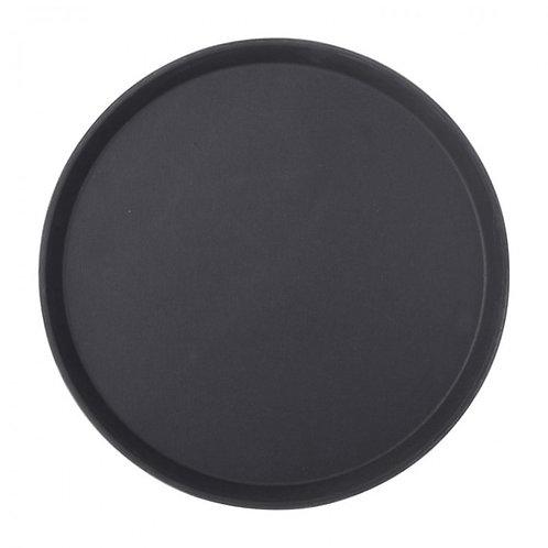 Bandeja de garzon antideslizante - negro 35 cm