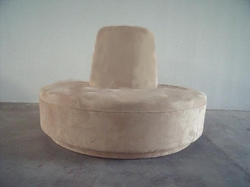 Sofa redondo beige lino