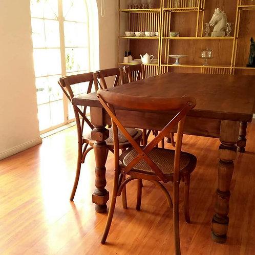 Mesa de madera gruesa 150 x 200 cm