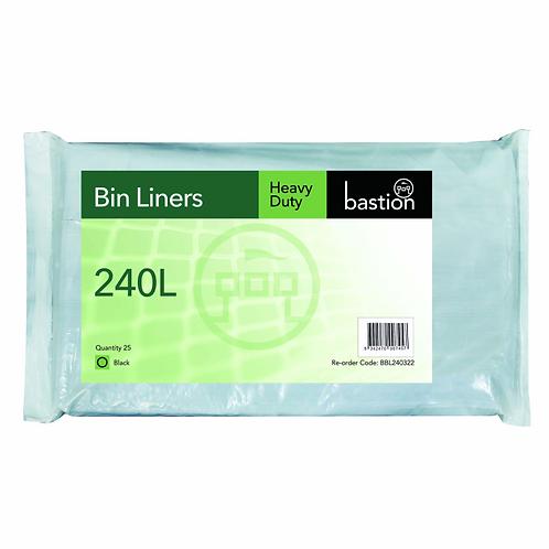 GARBAGE BAGS 240LT H/DUTY (100/CTN)