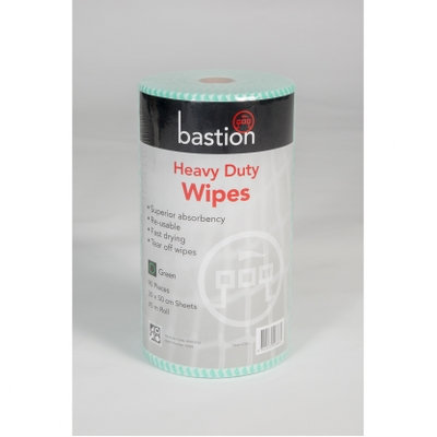 WIPES - HEAVY DUTY - GREEN (CTN 4 ROLLS)