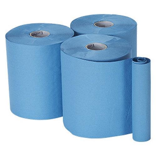 ESG BLUE ROLL HAND TOWEL243 METER (CTN/6 ROLLS)