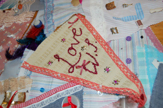 September's meeting – Bunting making