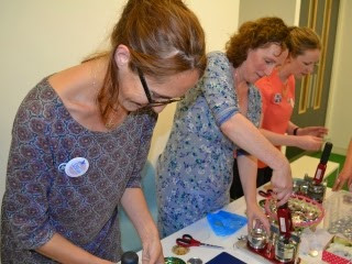 September meeting – Badge and mirror making