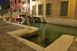 The Canals of Venice at night