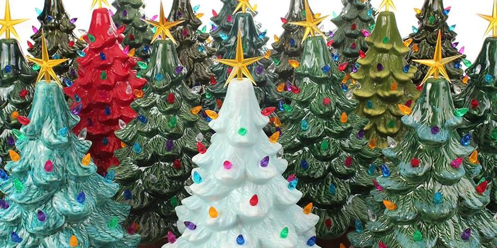"""16"""" Vintage Christmas Tree Paint Nite"""