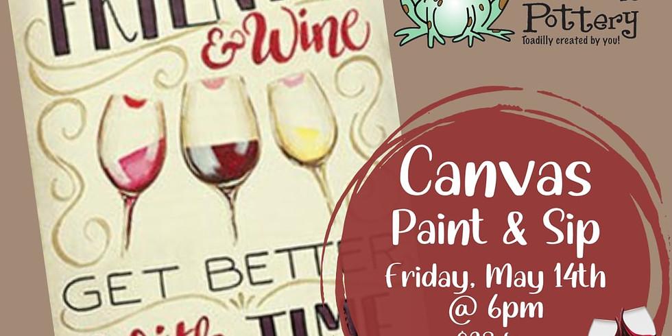 Paint & Sip: Canvas Friends & Wine