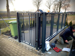 Cantilever Modern Gate