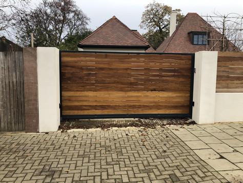 Cantilever Sliding Wooden Gate