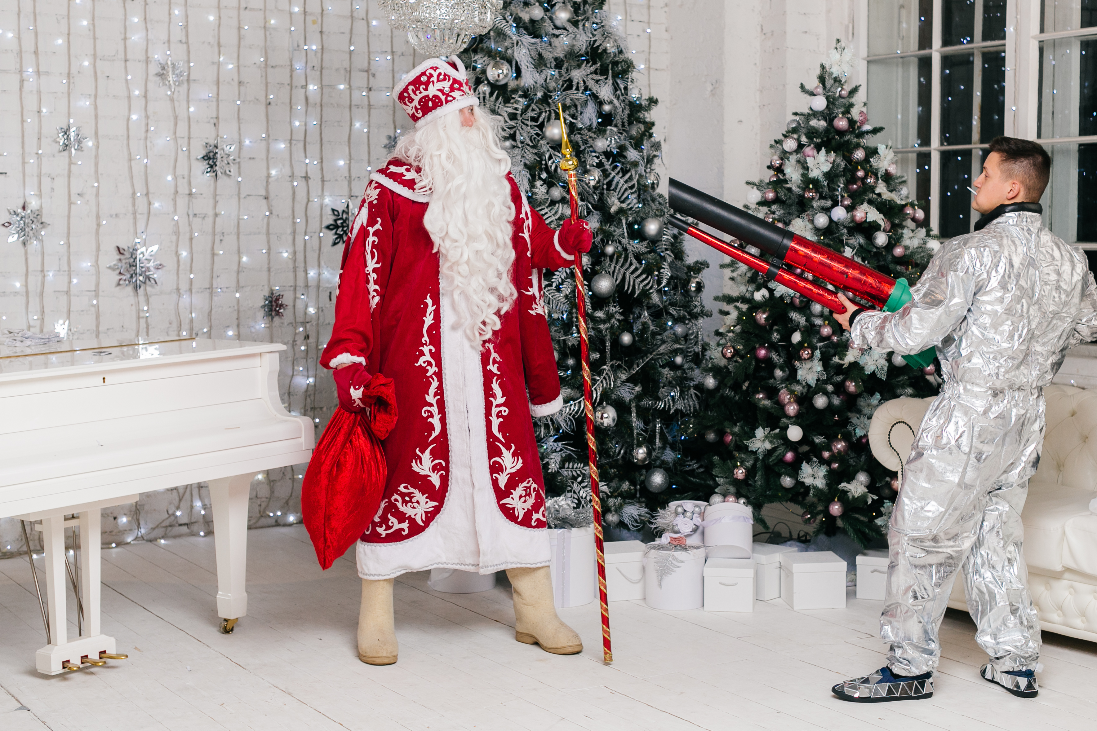 Дед мороз в космосе