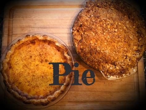 Thanksgiving Pie!  Apple, Pumpkin, and Custard Oh my!