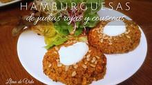 Hamburguesas vegetales con judías rojas y couscous