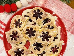Raspberry Filled Almond Shortbread Cookies