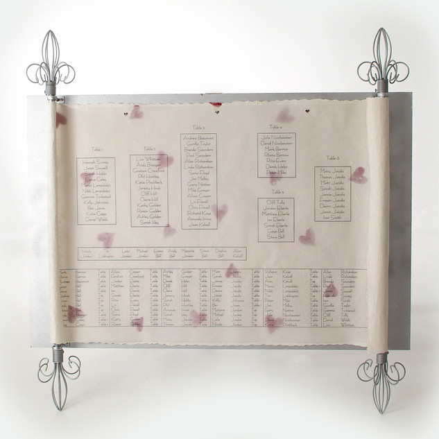 Handmade Co-ordinating Table Plan